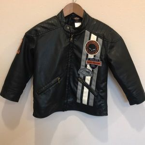 Kids Harley Davidson Faux Leather Jacket